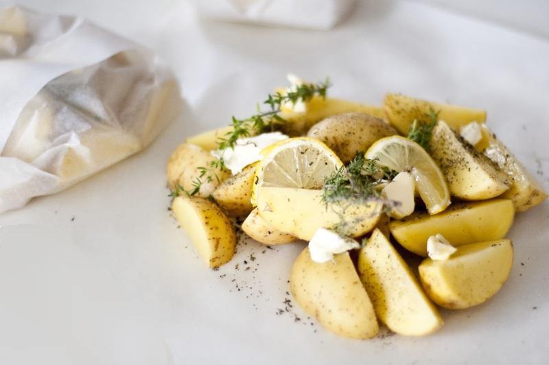 Ziemniaki pieczone z cytryną i tymiankiem