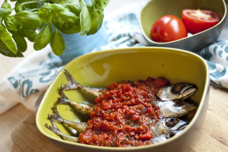 makrela w sosie pomidorowym
