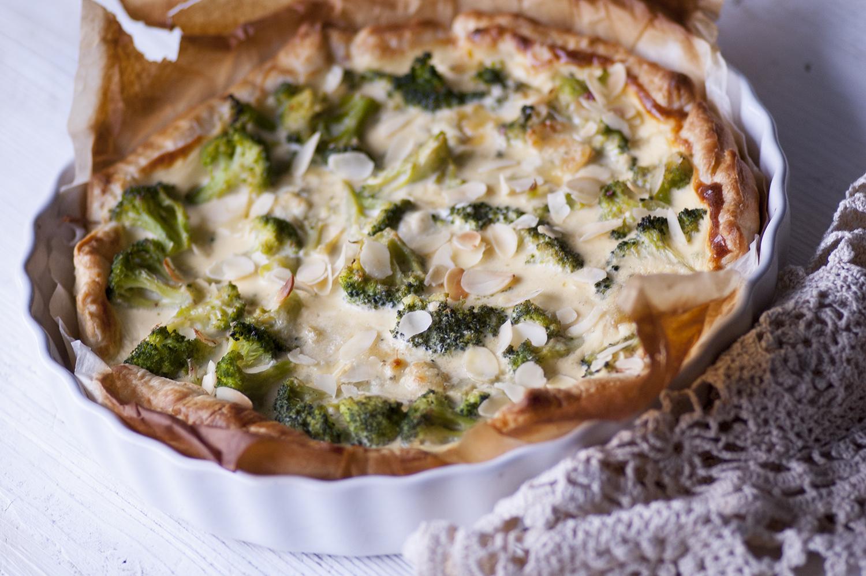 Tarta z brokułami, brokułowa