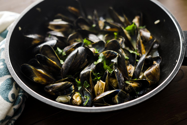 clams, mule, omułki, małże