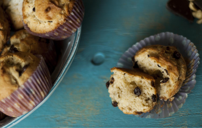 ... Muffiny z bananami, masłem orzechowym i czekoladą (Monkey muffins