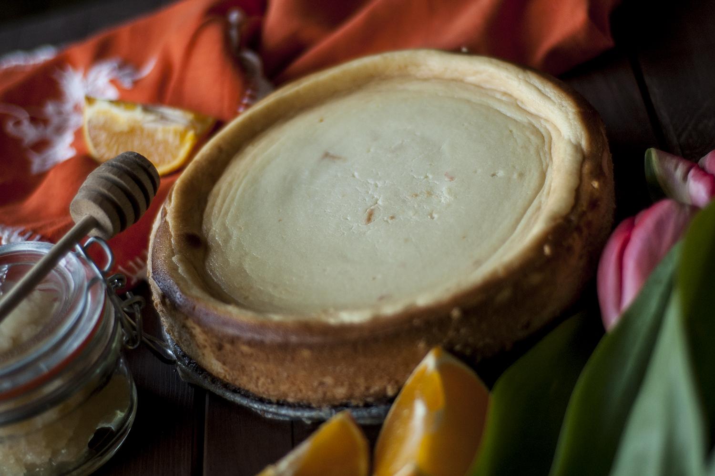 sernik ricotta miód pomarańcza