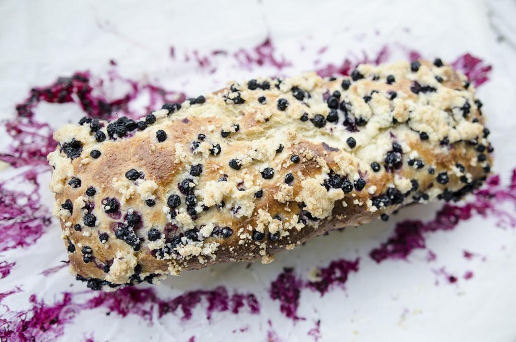 ciasto drożdżowe z jagodami/blueberries yeast cake