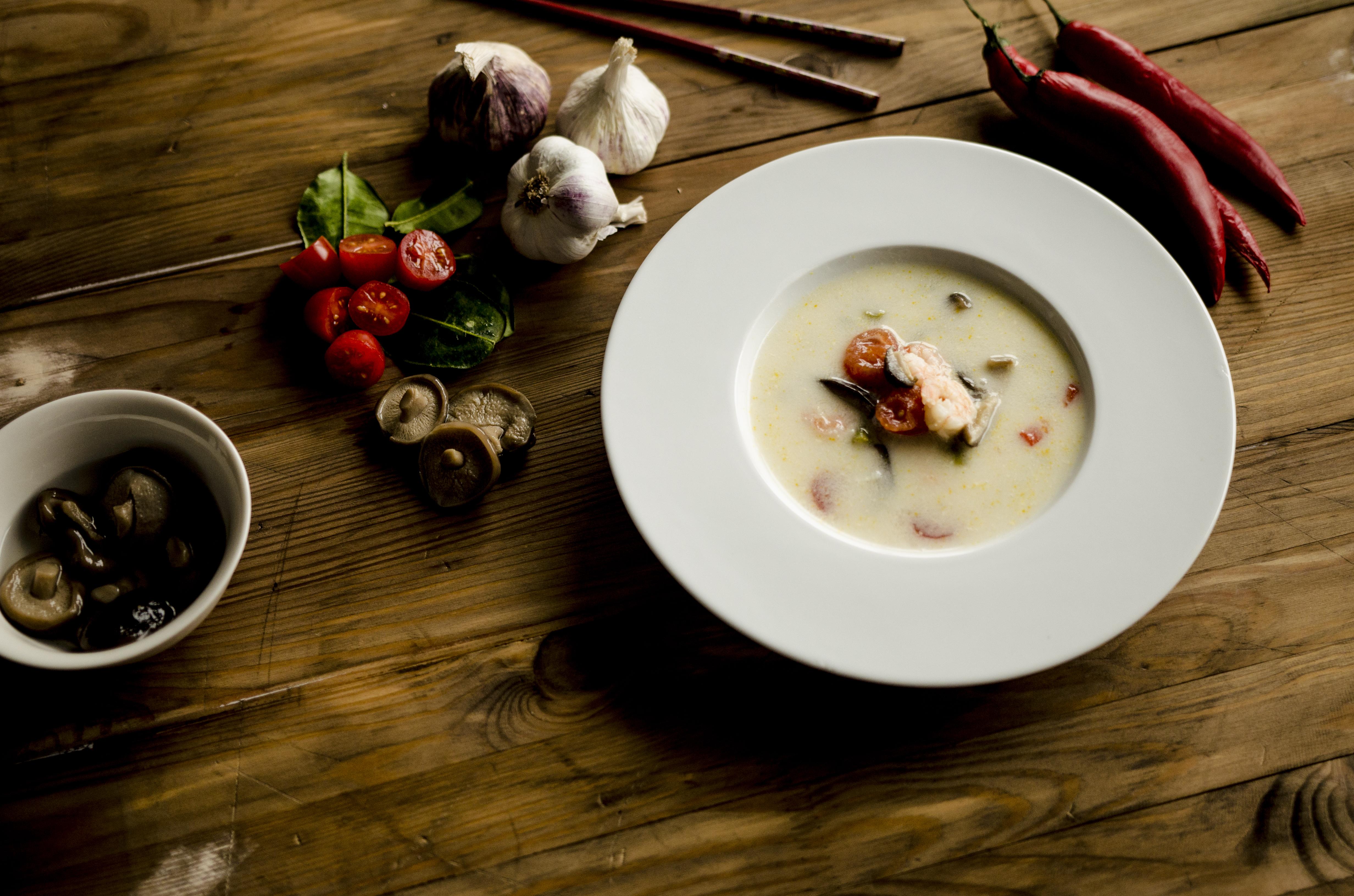 Tajska zupa z krewetkami