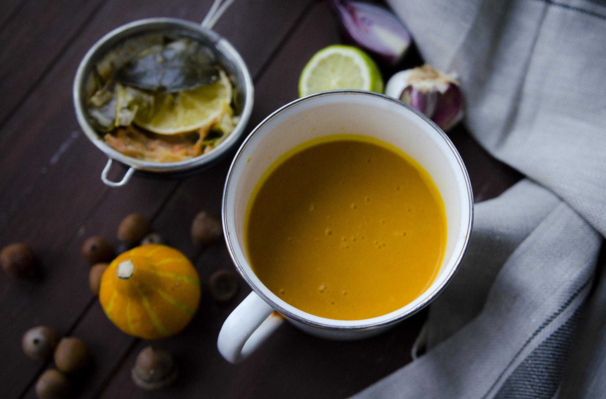 zupa z dyni na mleku kokosowym